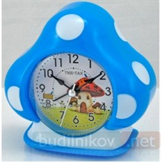 Детский будильник Тик-Так домик (синий)