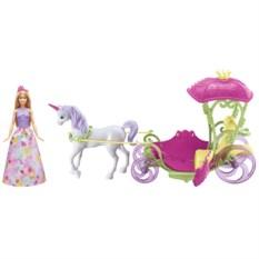 Набор с куклой Mattel Barbie Конфетная карета и кукла