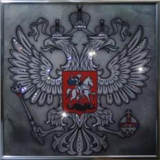 Картина с кристаллами Swarowski Герб (серебро)