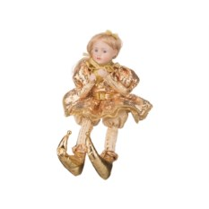 Музыкальное украшение Девочка в золотом платье