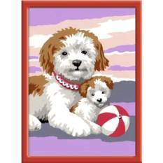 Раскраска по номерам Ravensburger Собака со щенком