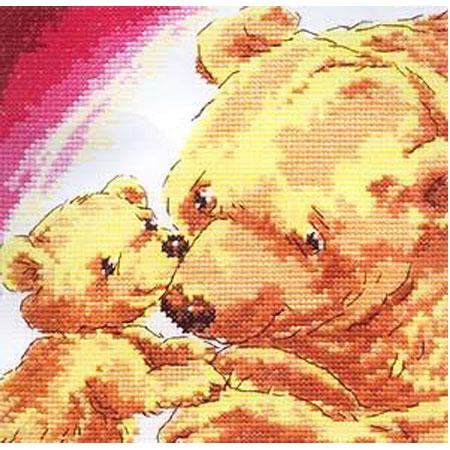 Набор для вышивания «Медведица с медвежонком»