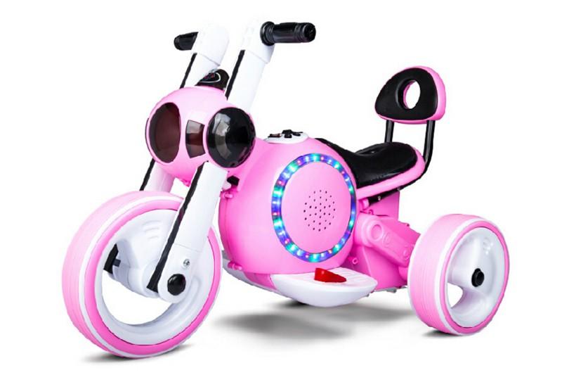 Детский электромотоцикл Bubble Pink