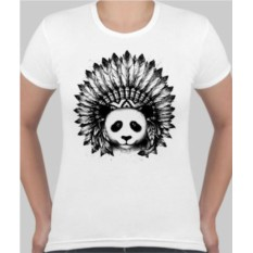 Женская футболка Панда индеец
