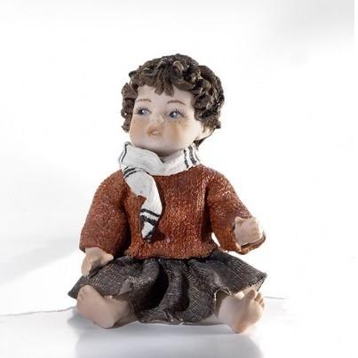 Фарфоровая статуэтка Мальчик в шарфе (Sibania)
