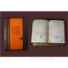 Коричнево-рыжий кожаный ежедневник