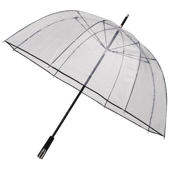 Зонт трость прозрачный с глубоким куполом