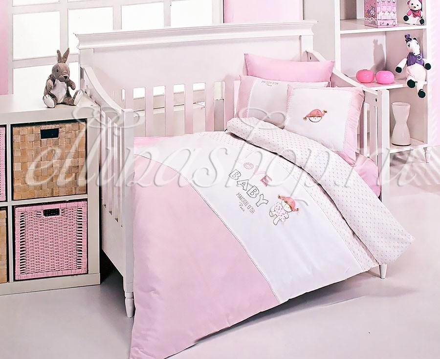 Комплект белья в кроватку из батиста Love baby