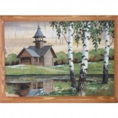 Объёмная картина на бересте Церковь