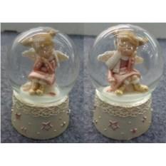 Водяной шар со снегом Ангелочек