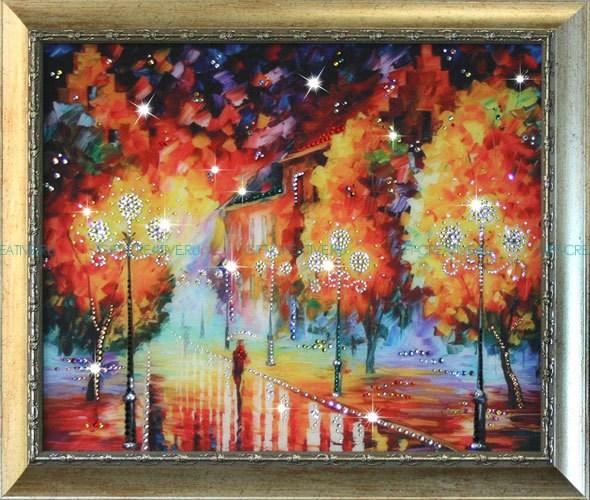 Картина с кристаллами Swarovski Фонари