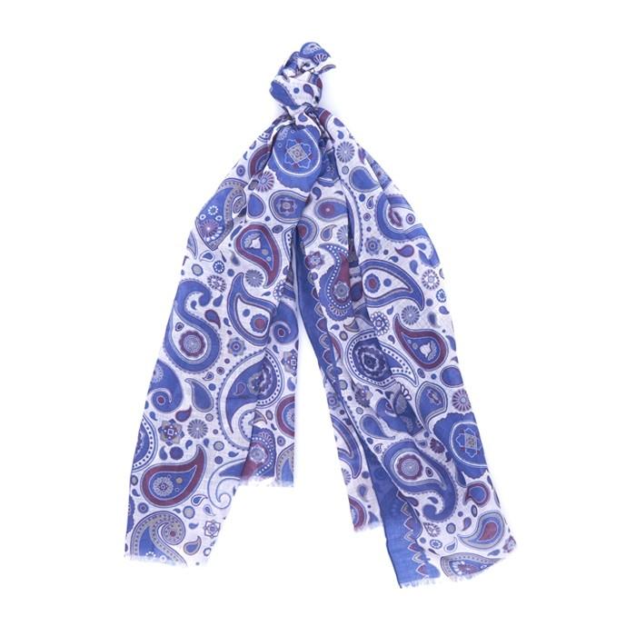Шарф RosiGhezzi, paisley синий-фиолетовый