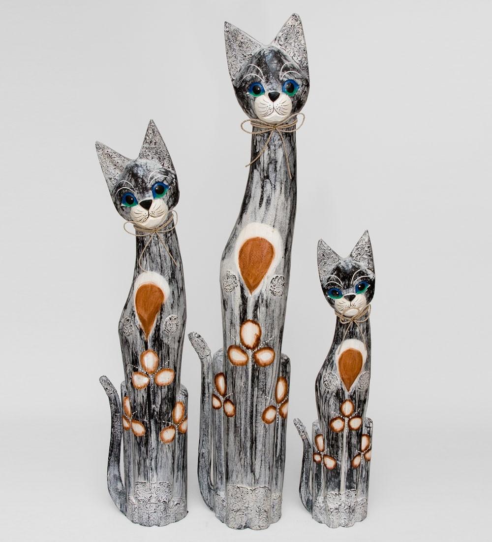 Набор из трех фигурок Кошка (100/80/60 см)