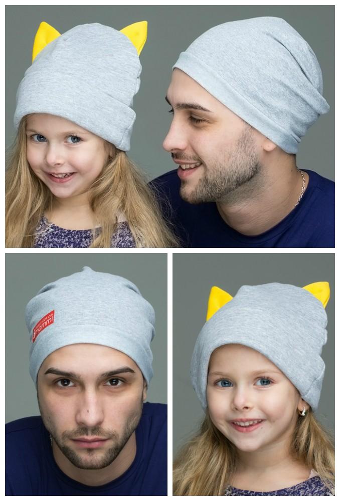 Комплект шапок Seoul для папы и дочки