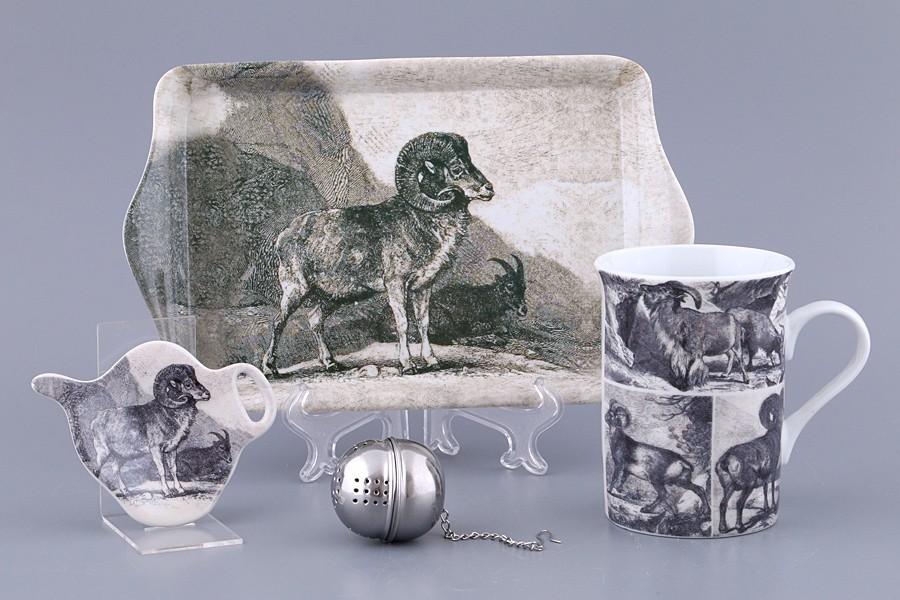 Чайный набор с символом года, 4 предмета