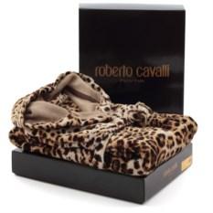 Элитный велюровый халат Bravo с капюшоном от Roberto Cavalli