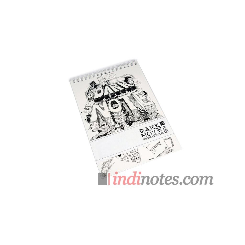 Блокнот-скетчбук с белыми листами