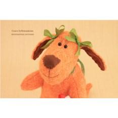 Авторская игрушка Новогодняя рыжая собачка Апельсинка