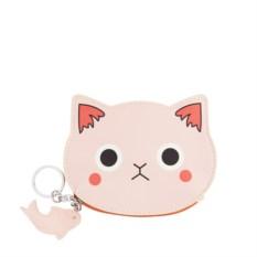 Розовый кошелек для мелочи Котик