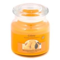 Ароматическая свеча в стеклянной банке Мандарин и персик