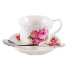 Чайный набор на одну персону из чашки, блюдца и ложки