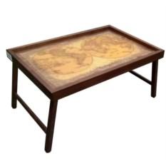 Столик поднос для завтрака Карта мира