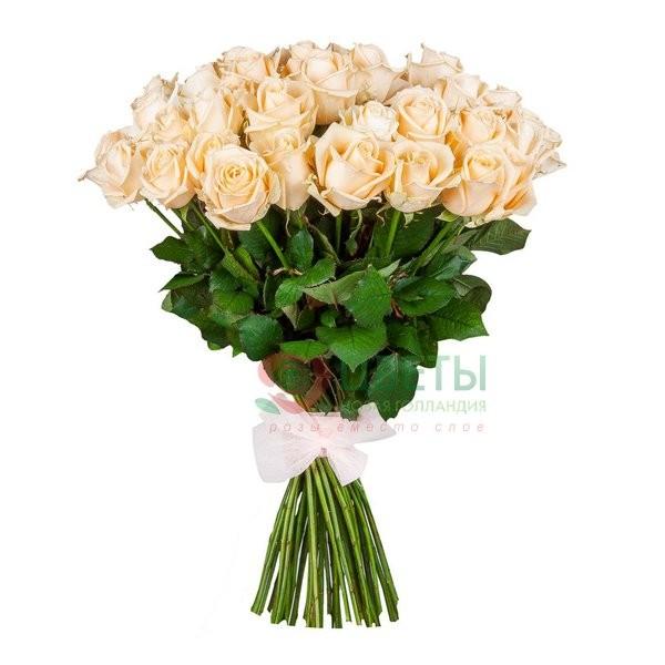 Букет кремовых роз Peach avalanche, 51 шт.