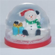 Водяной шар со снегом Новогодний снеговик