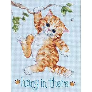 Набор для вышивания «Рыжий котенок на ветке»