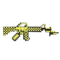 Золотой пиксельный автомат Minecraft