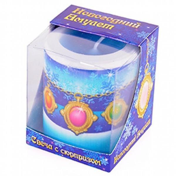 Новогодняя свеча-сюрприз с натуральным камнем