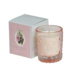 Ароматическая свеча в стекле Ландыш и роза