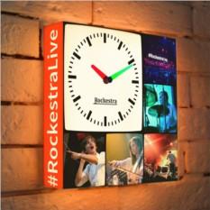 Световые часы с вашим логотипом и фотографиями