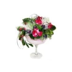 Букет из конфет Цветущая ваза