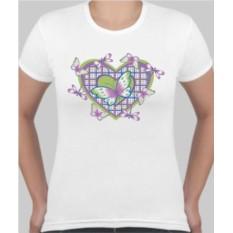 Женская футболка Бабочки в сердце