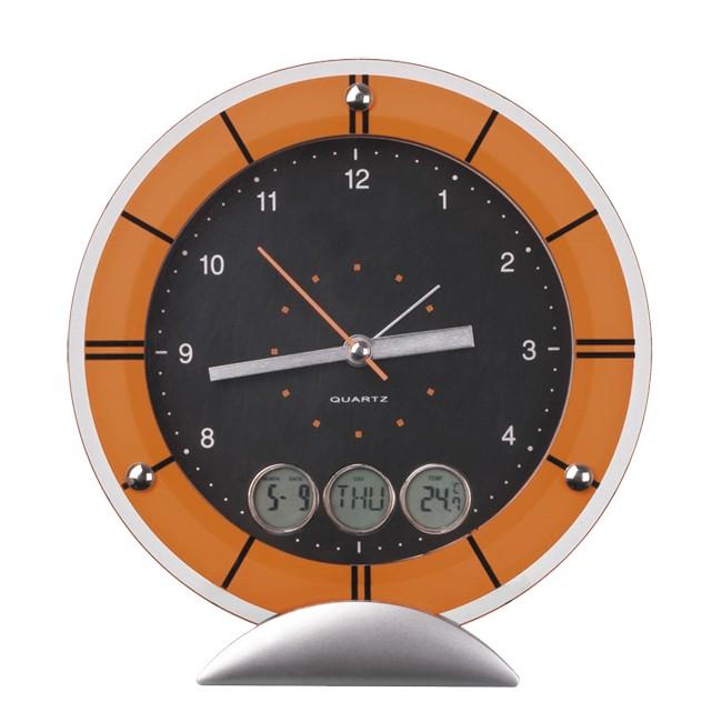 Настольные часы с датой, днем недели и температурой