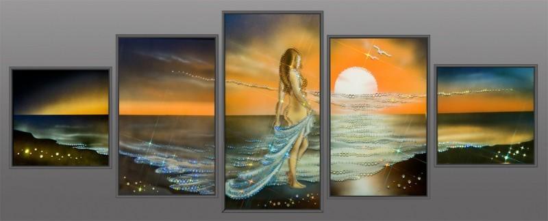 Картина с кристаллами Swarovski Наяда морская нимфа