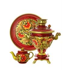 Набор самовар Кудрина золотая