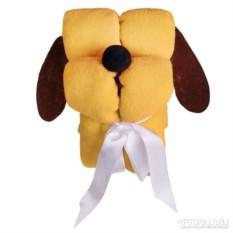 Желтый игрушка-плед «Пёс-трансформер»
