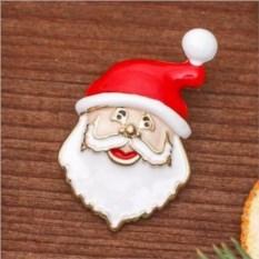 Новогодняя брошь Дед Мороз
