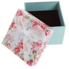 Подарочная коробка под кольцо Цветы