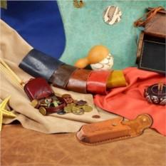Светло-коричневый кожаный футляр для очков M.Studio
