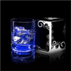 Синий светящийся бокал для виски GlasShine