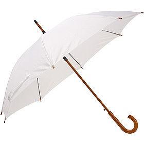 Зонт UNIT STANDART с деревянной ручкой, белый