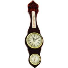Настенные часы из бука с барометром