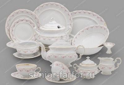 Чайно-столовый сервиз серия Соната, со светлым рисунком