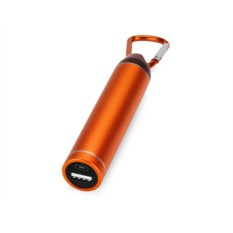 Оранжевое портативное зарядное устройство Марс с карабином