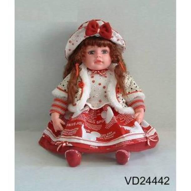 Виниловая кукла в белой шляпке