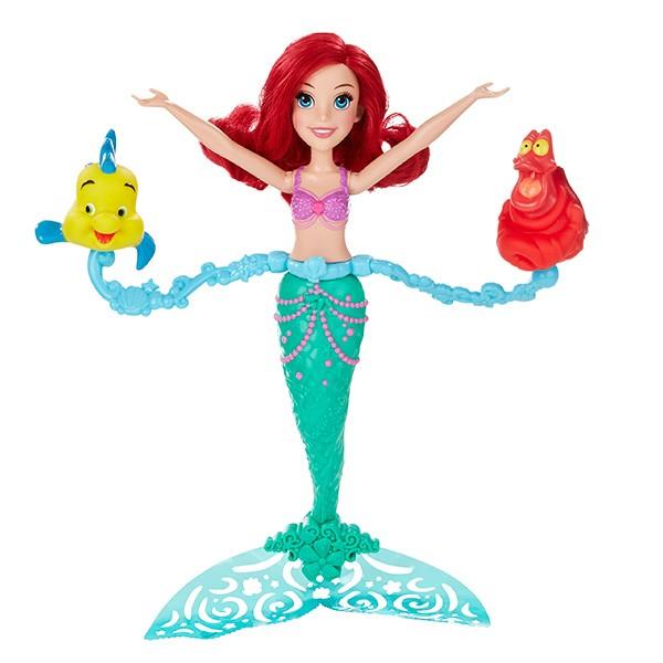 Кукла Hasbro Disney Princess Ариэль, плавающая в воде