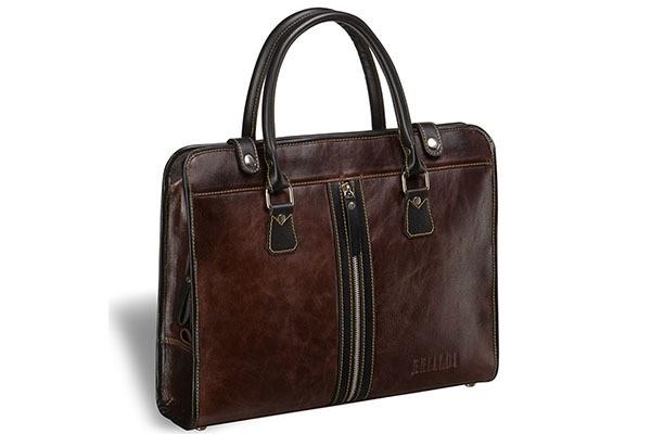 Деловая коричневая сумка Brialdi Carrara